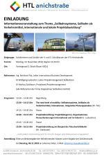 """Informationsveranstaltung zum Thema """"Seilbahnsysteme, Seilbahn als Verkehrsmittel, internationale und lokale Projektabwicklung"""""""